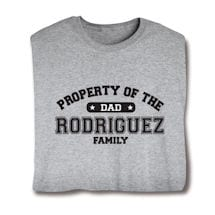 "Personalized Property of ""Your Name"" Dad Athletic T-Shirt"