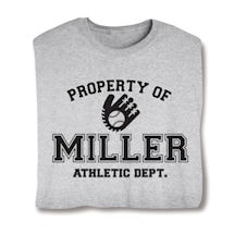 "Personalized Property of ""Your Name""  Baseball T-Shirt"