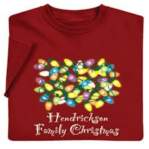 "Personalized ""Your Name"" Family Christmas Shirt"