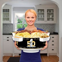 50Th Anniversary Super Bowl Party Station - Party Pack (2  dividers and 2 additional compartments)