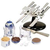 Star Wars Kitchen War Dinner Gift Set With X-Wing Knife Block And R2D2 Measuring Cup Set
