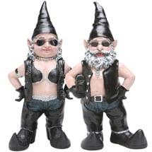 Biker Babe And Biker Dude Gnome Yard Art Gift Set