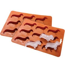Dachshund Silicone Ice Cube Tray Set Of 2