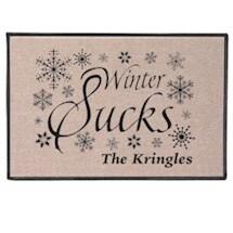 """Personalized """"Your Name"""" Winter Sucks Doormat"""