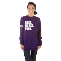 Best Ever Professions Long Sleeve Shirts- Nurse