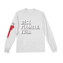 Best Ever Professions Long Sleeve Shirts- Plumber