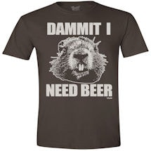 Animal Humor Tees- Beaver