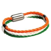 Leather Heritage Flag Bracelets- Ireland