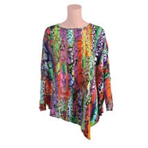 Asymmetrical Multi-Color Snake Print Tunic
