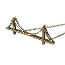 3D Printed Landmark Necklaces- Golden Date Bridge