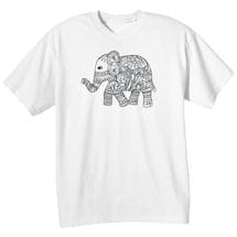 Color Your Own Tee- Elephant