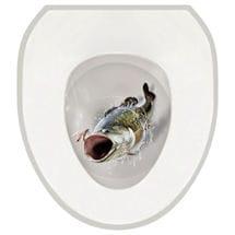 Toilet Tattoos- Large Mouth Bass