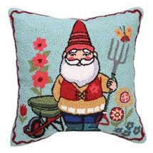 Gnome Pillows- Striped Red Hat