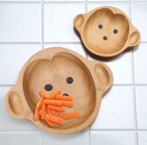 Sustainable Wood Serving Plates- Mama Monkey