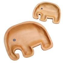 Sustainable Wood Serving Plates- Papa Elephant
