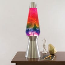Large Rainbow Lava Lamp