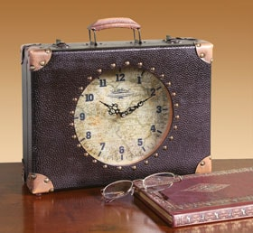 Time Travel Suitcase Clock