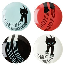 Naughty Cat Mini Plates