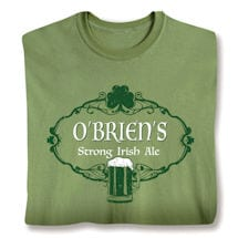 "Personalized ""Your Name"" Strong Irish Ale Shirt"