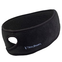 Fleece Ponytail Headbands- Black