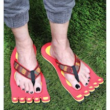Shaped Flip Flops - Red Monster