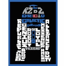 Star Wars™ Typography Canvas Print - R2D2