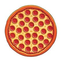 Round Beach Towel - Pizza