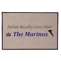 Personalized Royalty Lives Here Doormat - Italian