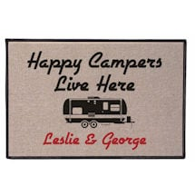 Personalized Happy Campers Mat