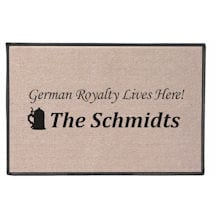Personalized Royalty Lives Here Doormat - German