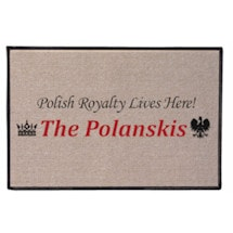 Personalized Royalty Lives Here Doormat - Polish