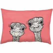 Color It Pillows- Ostriches