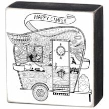 Color It Box Signs- Happy Camper