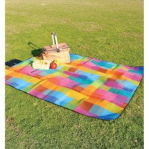 Color Geometric Plaid Picnic Mat