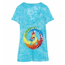 Peace Sign Burnout Tees