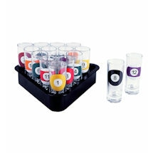 Billard Ball Shotglass Set