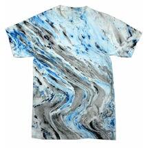 Marble Tie Dye Tee - Blue/Black