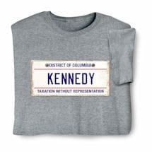 Personalized State License Plate Shirts - District of Columbia