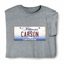 Personalized State License Plate Shirts - Illinois