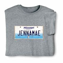 Personalized State License Plate Shirts - Missouri