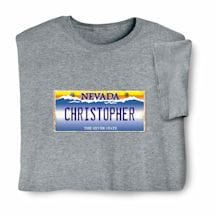 Personalized State License Plate Shirts - Nevada