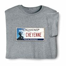 Personalized State License Plate Shirts - Oklahoma