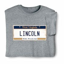 Personalized State License Plate Shirts - West Virginia