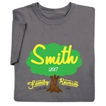 Personalized Your Name Family Reunion Oak Tree Shirt