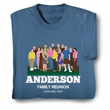 "Personalized Your Name ""All Together Now"" Family Reunion Shirt"