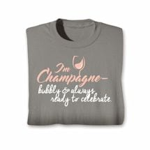 Wine Notes T-Shirt- Champagne