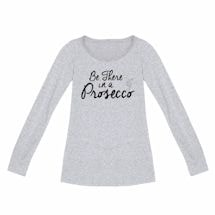 Ladies Long Sleeve Prosecco T-Shirts