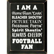 Personalized Fan Plaque