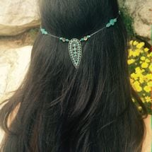Clip-In Hair Jewelry- Turquoise Drop Pendant