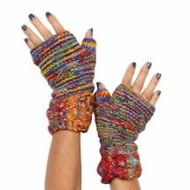Recycled Silk Knit Accessories - Handwarmers